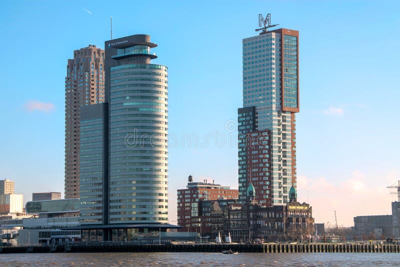 Horizonte de Rotterdam, Países Bajos fotografía de archivo