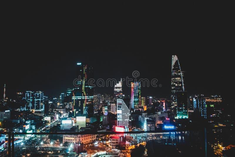 Horizonte de Saigon también conocido como Ho Chi Minh City en Vietnam fotos de archivo