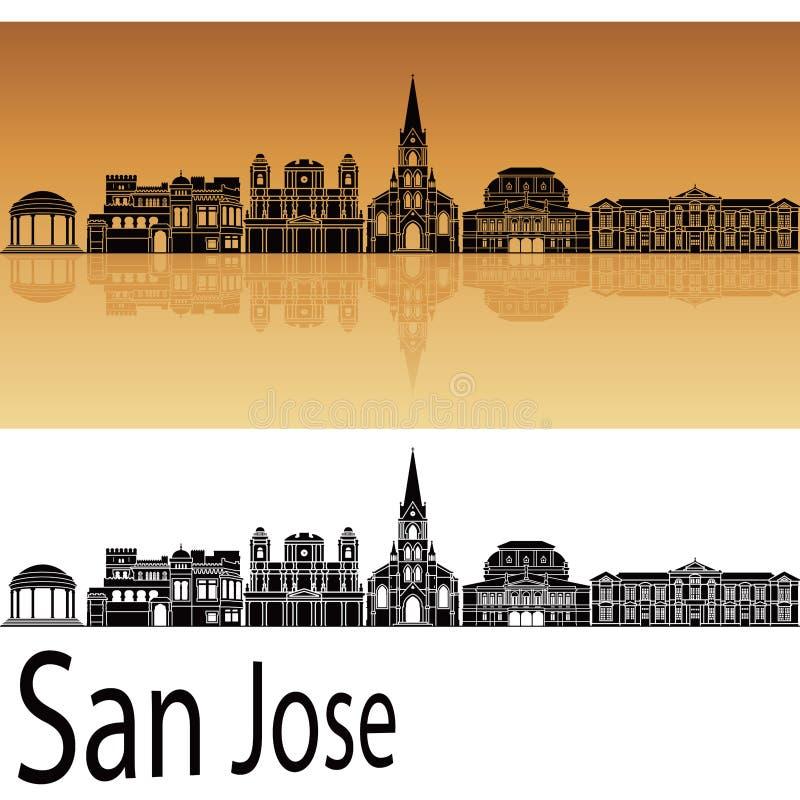 Horizonte de San Jose ilustración del vector