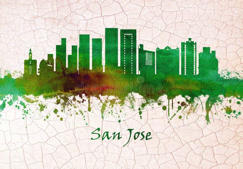 Horizonte de San Jose California stock de ilustración