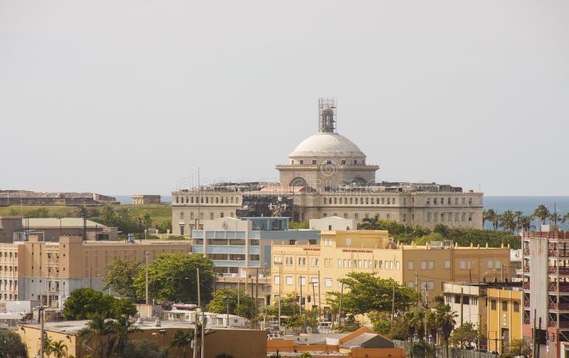 Horizonte de San Juan viejo Puerto Rico fotografía de archivo libre de regalías