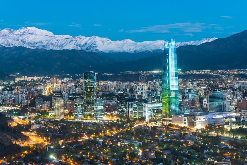 Horizonte de Santiago de Chile imágenes de archivo libres de regalías