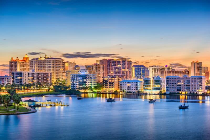 Horizonte de Sarasota, la Florida, los E.E.U.U. foto de archivo