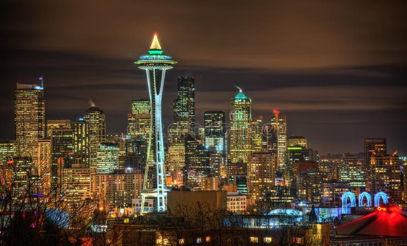 Horizonte de Seattle, los E.E.U.U. imagen de archivo libre de regalías