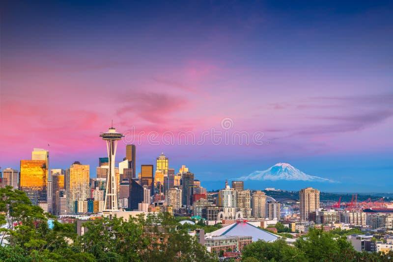 Horizonte de Seattle, Washington, los E.E.U.U. fotografía de archivo
