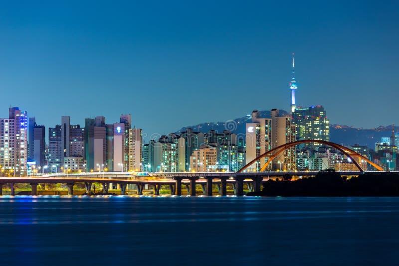 Horizonte de Seul imagen de archivo