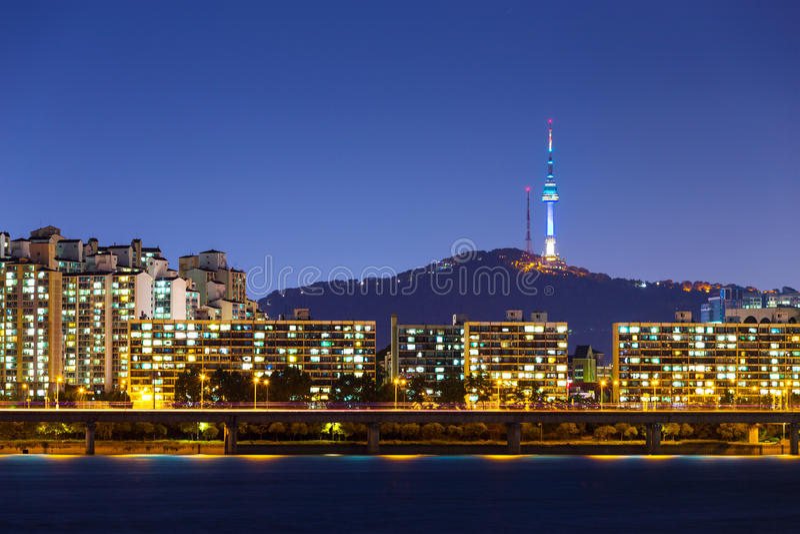 Horizonte de Seul imagen de archivo libre de regalías
