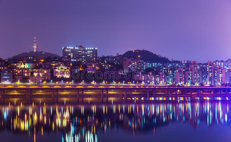 Horizonte de Seul foto de archivo libre de regalías