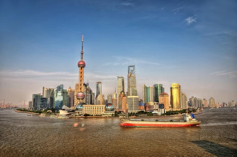 Horizonte de Shangai, China imagen de archivo libre de regalías