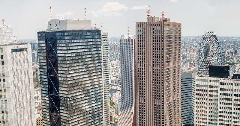 Horizonte de Shinjuku en Tokio - Japón fotografía de archivo libre de regalías
