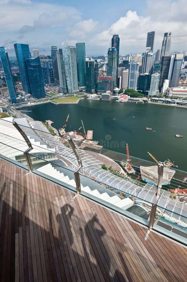Horizonte De Singapur Foto de archivo editorial
