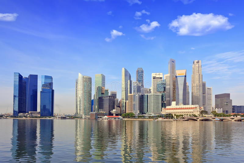 Horizonte de Singapur imágenes de archivo libres de regalías