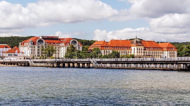 Horizonte de Sopot fotografía de archivo libre de regalías