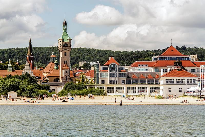 Horizonte de Sopot imagen de archivo libre de regalías
