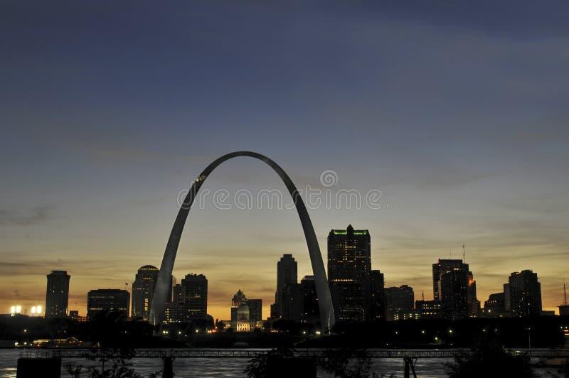 Horizonte de St. Louis imágenes de archivo libres de regalías