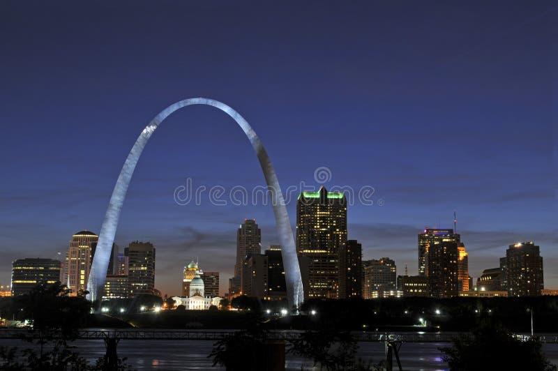 Horizonte de St. Louis foto de archivo