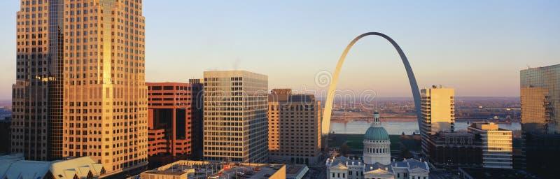 Horizonte de St. Louis Missouri foto de archivo