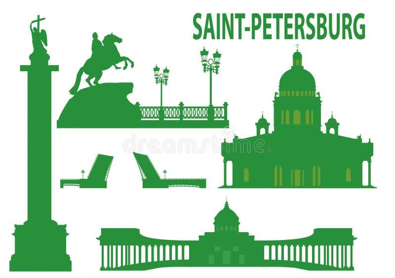 Horizonte de St Petersburg ilustración del vector