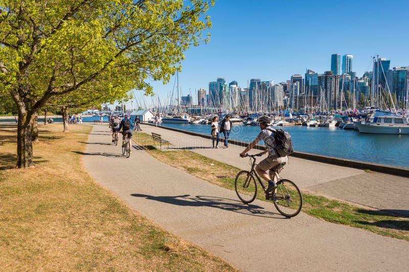 Horizonte de Stanley Park y de Vancouver fotos de archivo