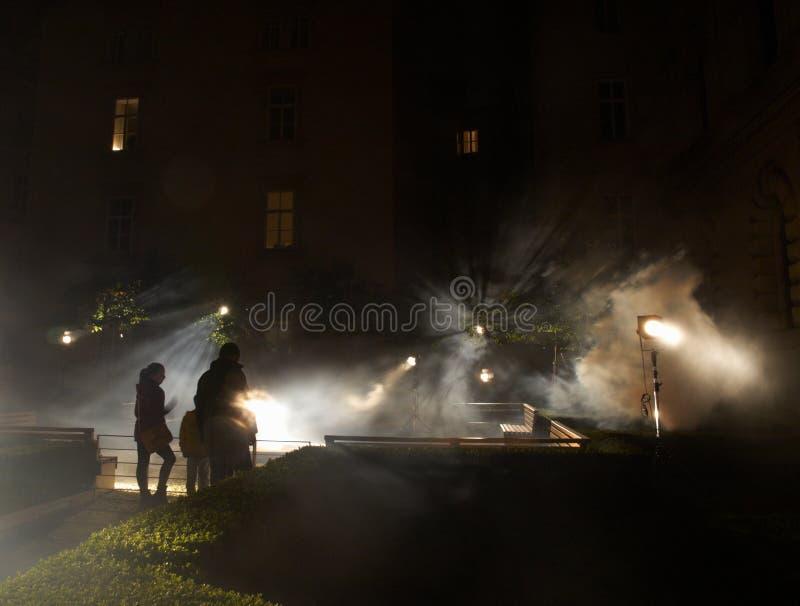 Horizonte de sucesos de la instalación de David Sivy en el festival Praga de la señal foto de archivo libre de regalías