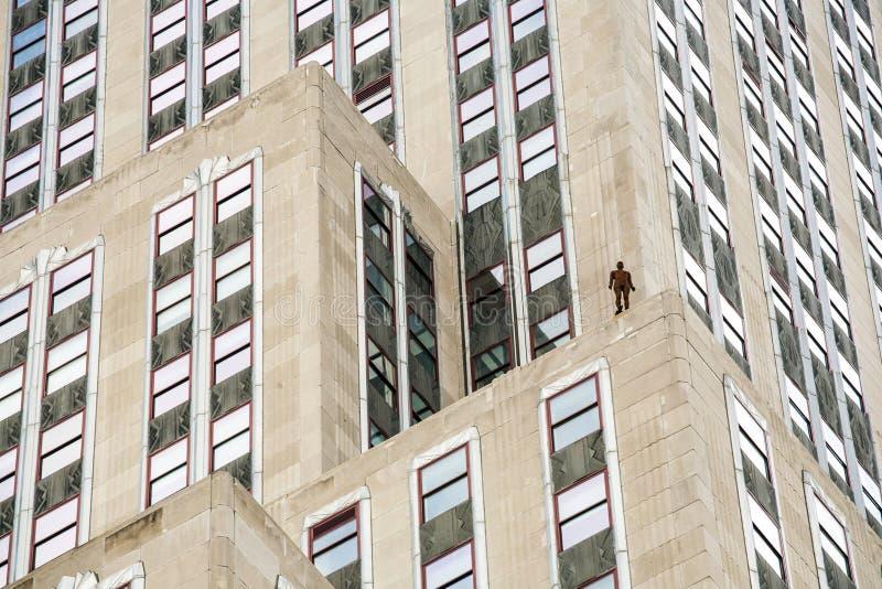 Horizonte de sucesos en New York City de Antony Gormley foto de archivo