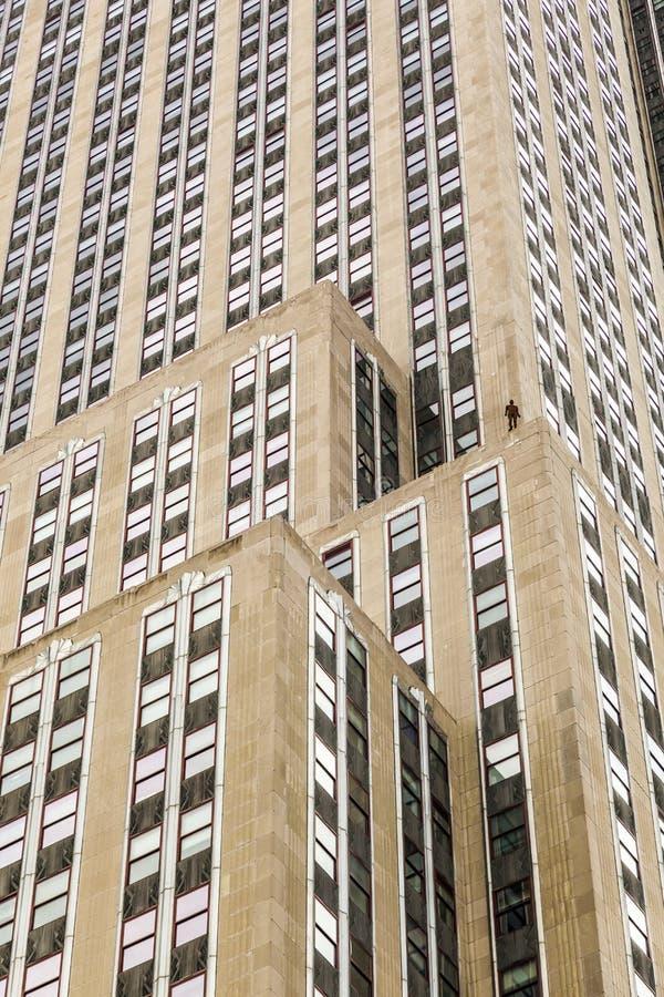 Horizonte de sucesos en New York City de Antony Gormley imágenes de archivo libres de regalías