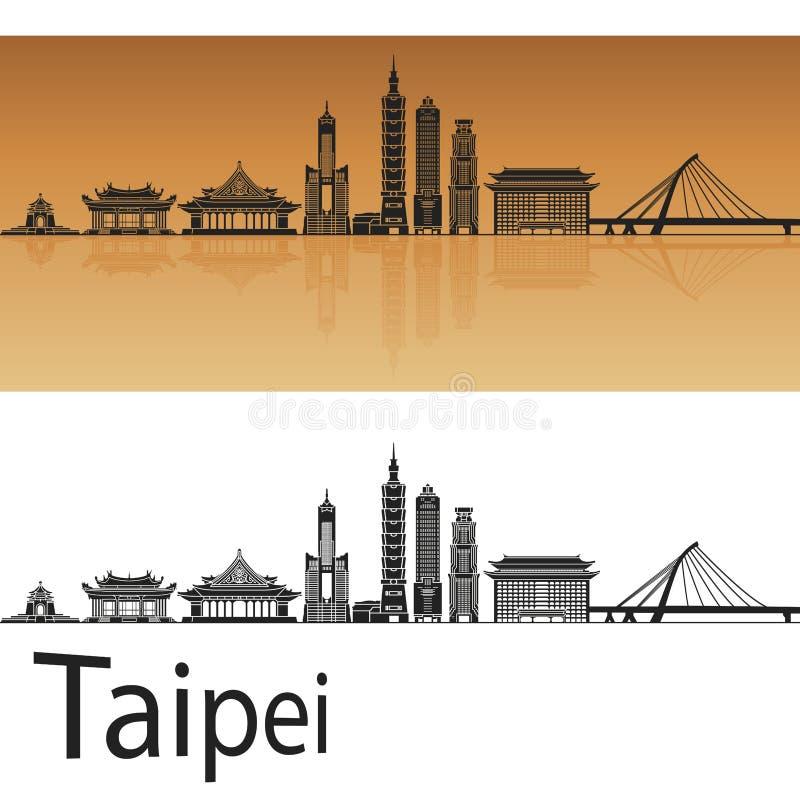 Horizonte de Taipei en naranja libre illustration