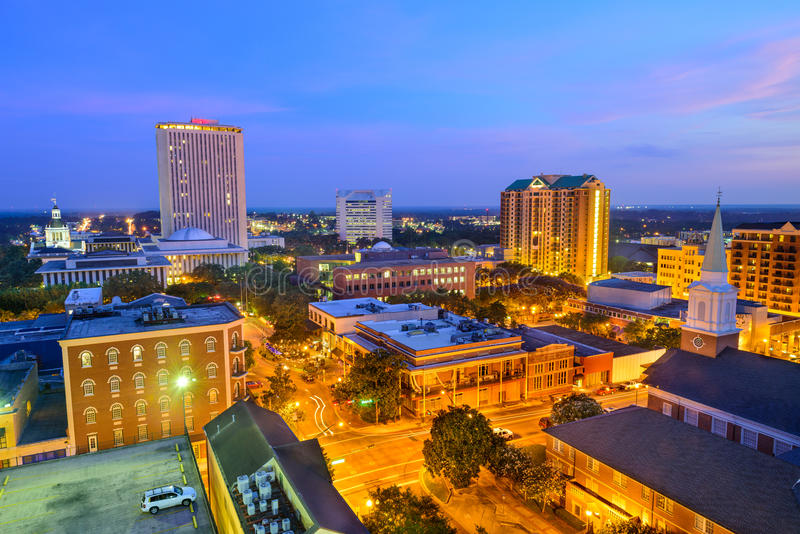Horizonte de Tallahassee la Florida imágenes de archivo libres de regalías