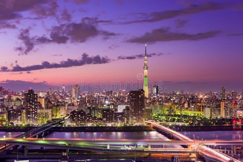 Horizonte de Tokio Japón fotografía de archivo libre de regalías