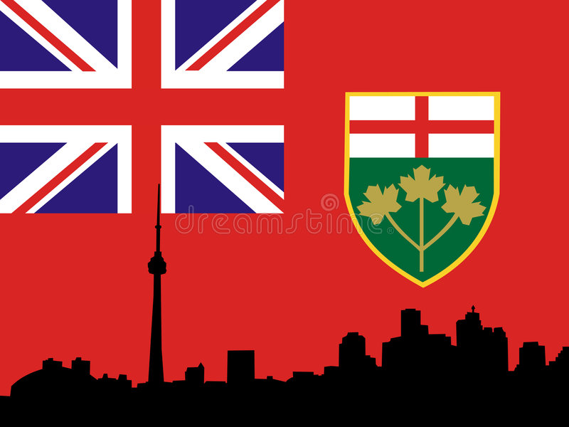 Horizonte de Toronto ilustración del vector