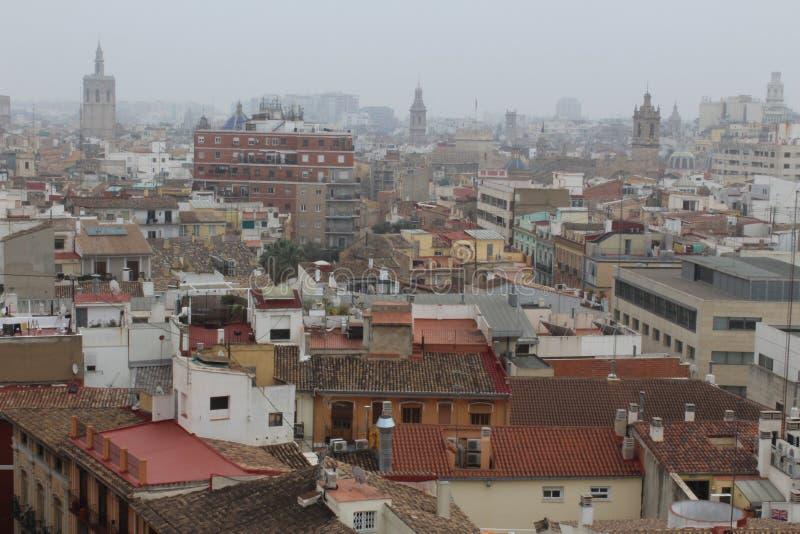 Horizonte de Valencia, España fotos de archivo libres de regalías