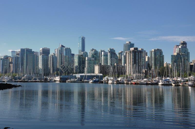 Horizonte de Vancouver foto de archivo