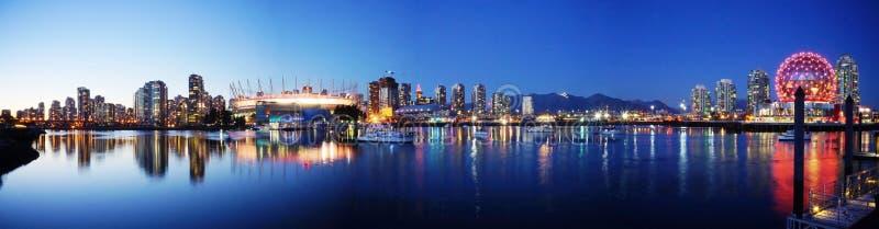 Horizonte de Vancouver Canadá fotografía de archivo libre de regalías