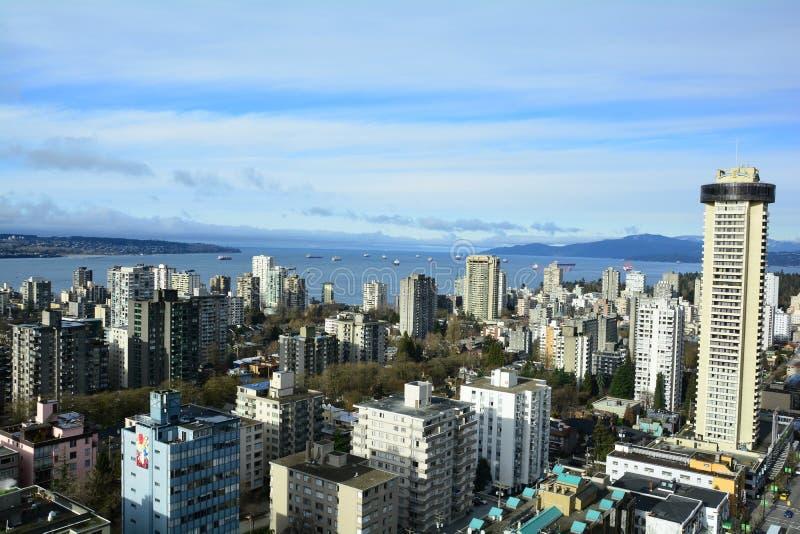 Horizonte de Vancouver y bahía inglesa fotos de archivo