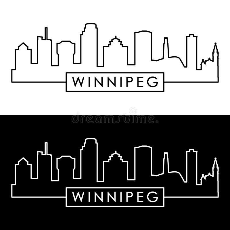 Horizonte de Winnipeg estilo linear stock de ilustración