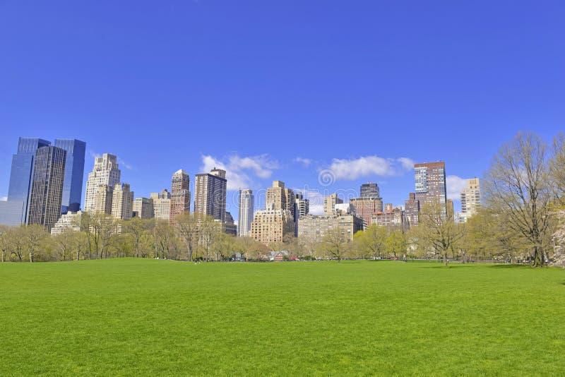 Horizonte del Central Park, New York City de Manhattan imagen de archivo libre de regalías