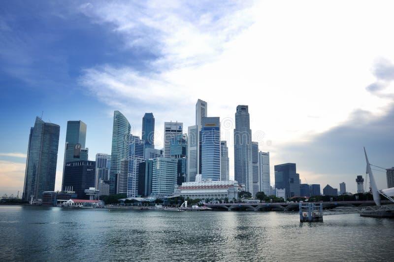 Horizonte Del Distrito Financiero De Singapur Foto editorial