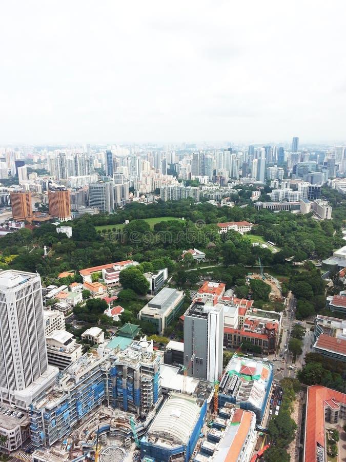 Horizonte del distrito financiero de Singapur imagenes de archivo