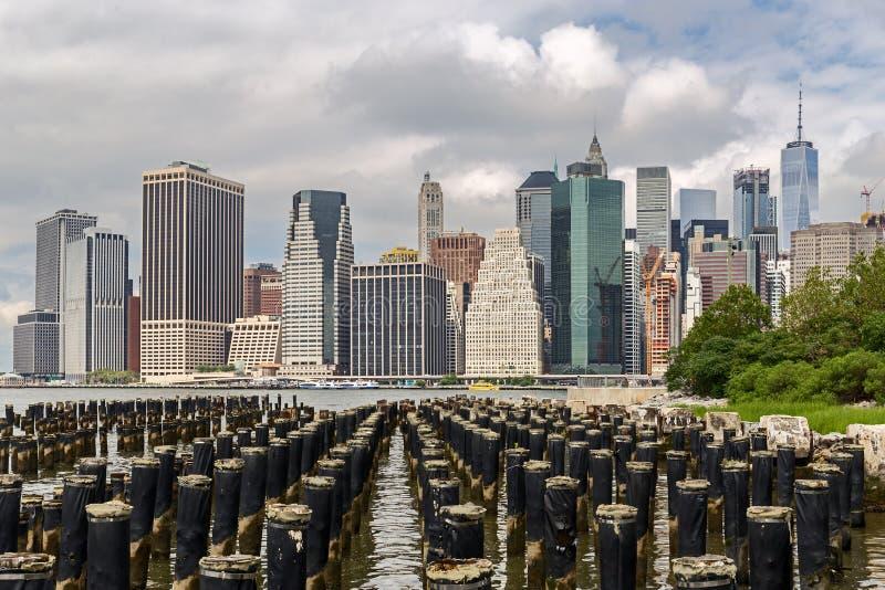 Horizonte del Lower Manhattan fotografía de archivo libre de regalías