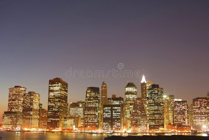 Horizonte del Lower Manhattan fotos de archivo libres de regalías