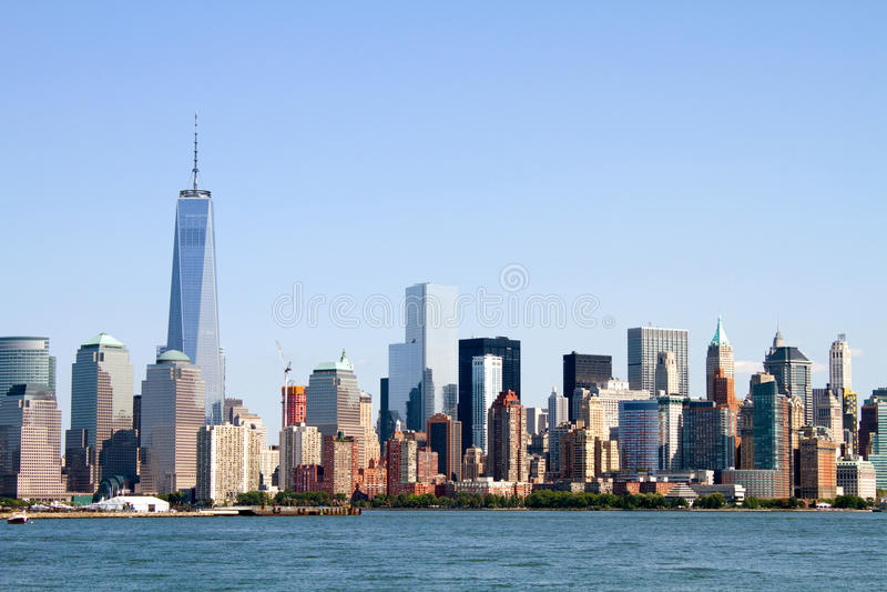 Horizonte del Lower Manhattan fotos de archivo