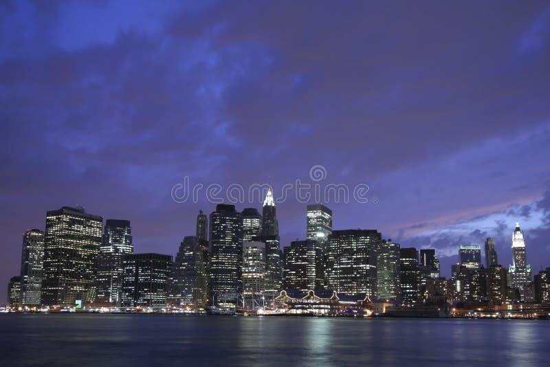 Horizonte del Lower Manhattan imagenes de archivo