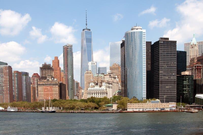 Horizonte del Lower Manhattan imagen de archivo libre de regalías