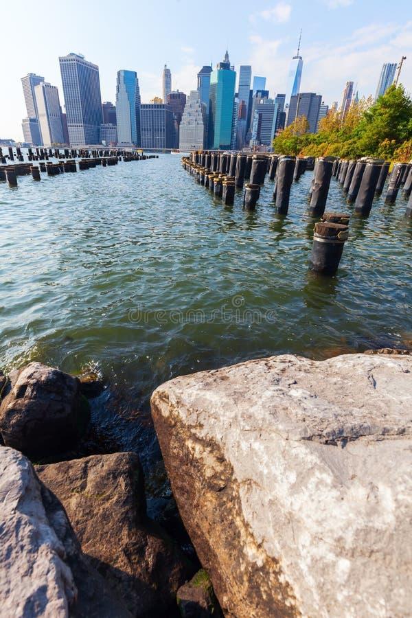 Horizonte del Lower Manhattan, NYC fotografía de archivo libre de regalías