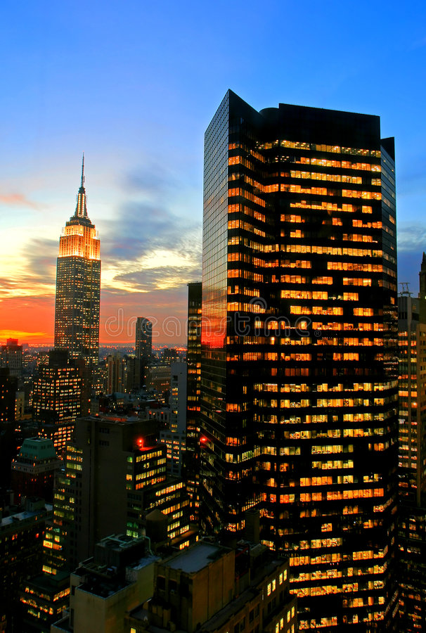 Horizonte del Midtown de New York City fotografía de archivo