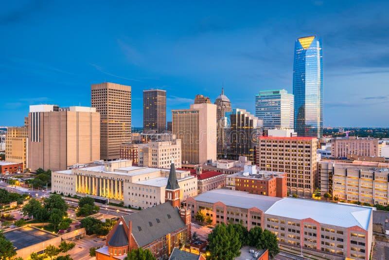 Horizonte del Oklahoma City, Oklahoma, los E.E.U.U. fotografía de archivo