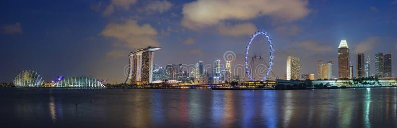 Horizonte del paisaje urbano de Singapur fotografía de archivo libre de regalías