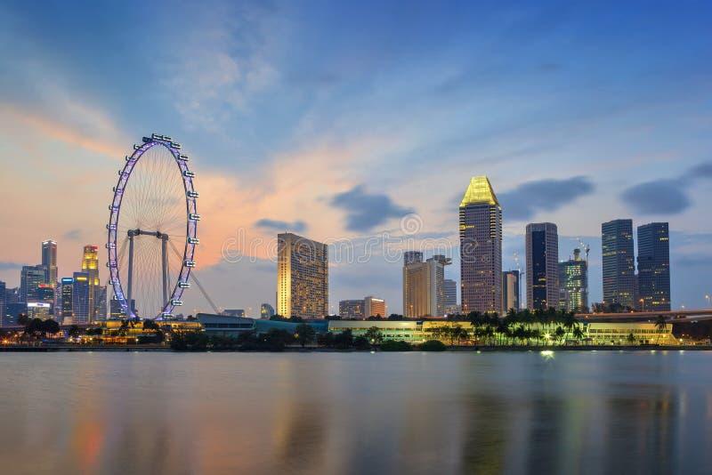 Horizonte del paisaje urbano de Singapur imagen de archivo libre de regalías