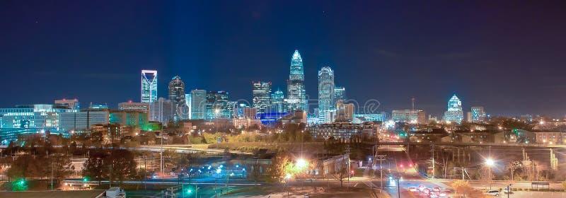 Horizonte del panorama de la parte alta de Charlotte foto de archivo libre de regalías