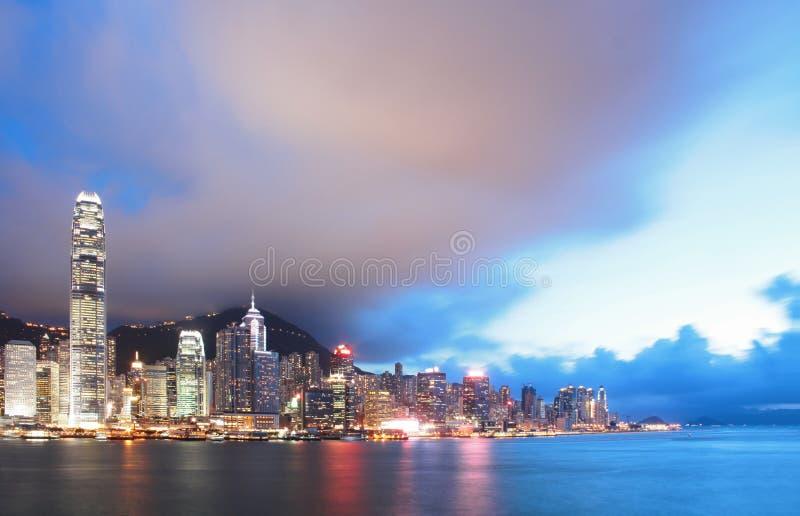 Horizonte del puerto de Hong-Kong Victoria fotos de archivo